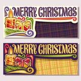 Cartes de voeux de vecteur pour le Joyeux Noël illustration libre de droits