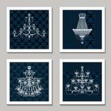 Cartões do candelabro do vintage Imagem de Stock Royalty Free