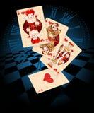 Cartões do jogo dos corações Fotografia de Stock Royalty Free