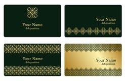 Cartões do ouro Fotografia de Stock Royalty Free
