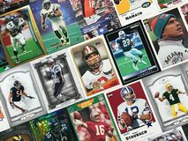 Cartes du football images stock