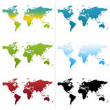 Cartes du monde Image libre de droits