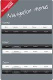 Cartes Editable de navigation Photo libre de droits