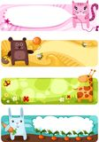 Cartes en liasse animales mignonnes Photo stock