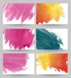 Cartes en liasse d'aquarelle Photographie stock