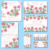 Cartes en liasse d'invitation Images libres de droits