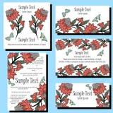 Cartes en liasse d'invitation Photographie stock
