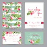Cartes en liasse d'invitation ou de félicitation de mariage illustration de vecteur