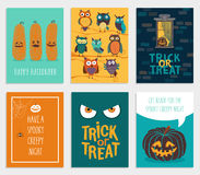 Cartes en liasse de Halloween illustration stock