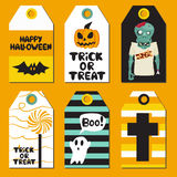 Cartes en liasse de Halloween Illustration de vecteur Photo libre de droits
