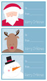 Cartes en liasse de Noël Image libre de droits