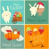 Cartes en liasse de Pâques Photographie stock