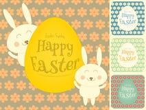 Cartes en liasse de Pâques Photos stock