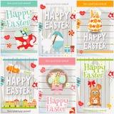 Cartes en liasse de Pâques Photo libre de droits