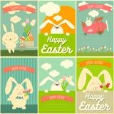 Cartes en liasse de Pâques Images libres de droits