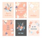 Cartes en liasse de Valentine Photographie stock libre de droits