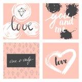 Cartes en liasse de Valentine Images libres de droits