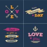 Cartes en liasse de valentines Image libre de droits
