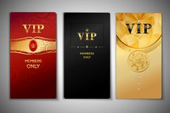 Cartes en liasse de VIP Photo stock