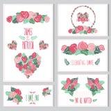 Cartes en liasse florales Photographie stock
