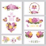 Cartes en liasse florales Photographie stock libre de droits