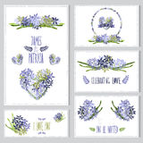 Cartes en liasse florales Photo libre de droits