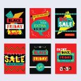 Cartes en liasse géniales de vente de Black Friday sur le fond gris illustration de vecteur
