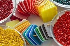 Cartes en plastique colorées Images libres de droits