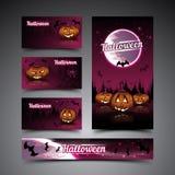 Cartes et bannière de Halloween Photographie stock libre de droits