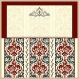 Cartes et invitations de mariage Éléments décoratifs de cru illustration libre de droits
