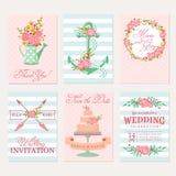 Cartes et invitations de mariage illustration libre de droits