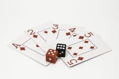 Cartes et matrices de jeu Photographie stock
