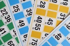 Cartes et numéros de bingo-test Photo stock