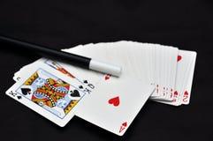 Cartes et personnel magiques de rune Photographie stock libre de droits