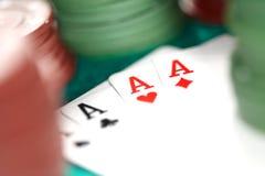 Cartes et puces de casino Photo stock