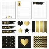 Cartes et symboles pour organisé vous planificateur Photographie stock libre de droits