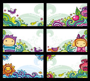 Cartões florais coloridos Foto de Stock Royalty Free