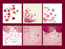 Cartes florales illustration de vecteur