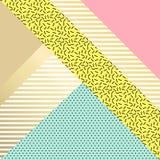 Cartes géométriques à la mode de Memphis d'éléments Images libres de droits