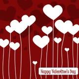 Cartes heureuses de jour de Valentines Photos libres de droits