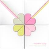 Cartes heureuses de jour et de sarclage de valentines Images libres de droits