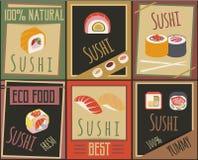 Cartes japonaises traditionnelles de nourriture Images libres de droits