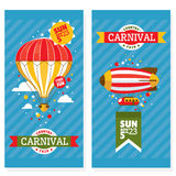 Cartões justos do convite do vintage do país Imagem de Stock