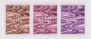 Cartes liquides de texture de marbre d'aquarelle Tourbillonne l'encre, ondule le fond de conception Calibre liquide à la mode pou illustration de vecteur