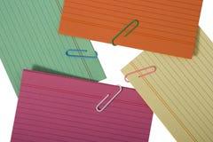 Cartes multicolores Photo libre de droits