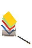 Cartes nommées vierges colorées dans un cadre Images libres de droits