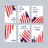 Cartes patriotiques de la Malaisie pour le jour national illustration de vecteur