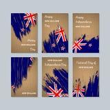 Cartes patriotiques du Nouvelle-Zélande pour le jour national illustration libre de droits