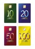 Cartes payées d'avance d'escompte Image stock
