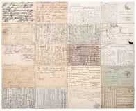 Cartes postales antiques Le vintage empaquette le fond Images libres de droits